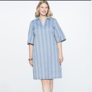 Brand NEW Eloquii Embroidered Flare Sleeve Dress